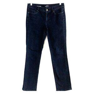 LOFT dark wash denim jeans straight size 29/8